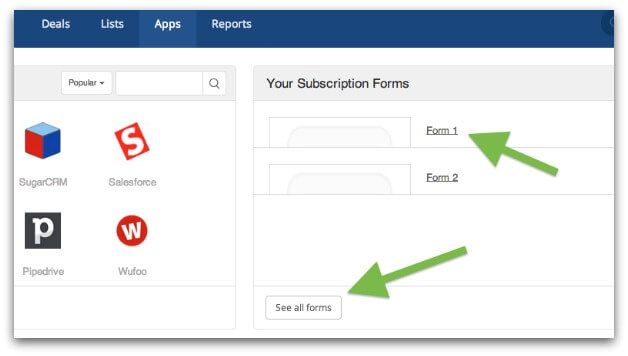 Getting your ActiveCampaign form ID