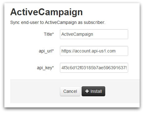 Screenshot of ActiveCampaign Zendesk Lotus app