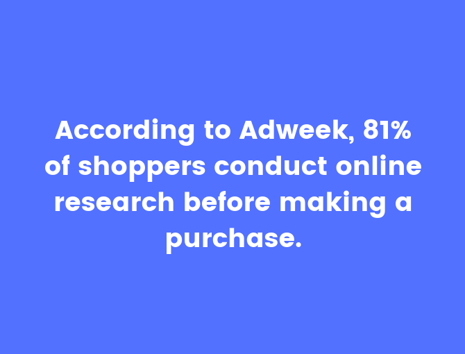 shoppers research online