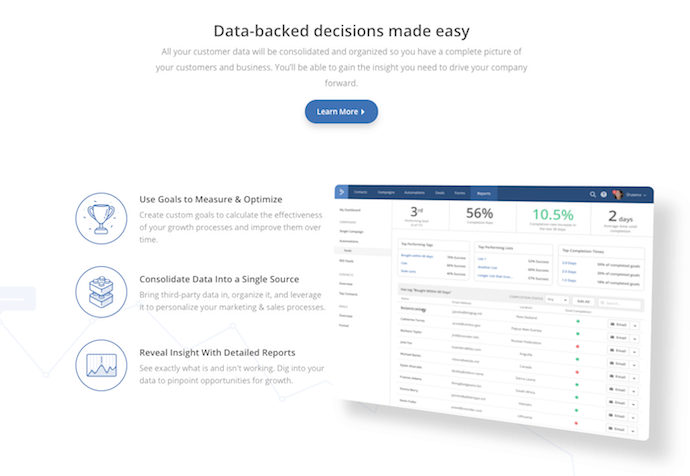 ActiveCampaign landing page example