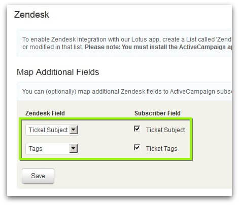 Screenshot of ActiveCampaign External Services section