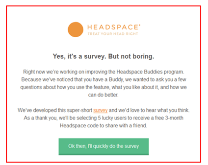 headspace email marketing example