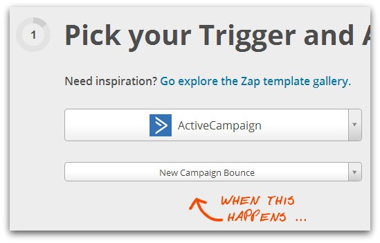 Screenshot of Zapier service