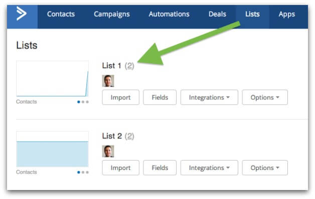 Getting your ActiveCampaign list ID