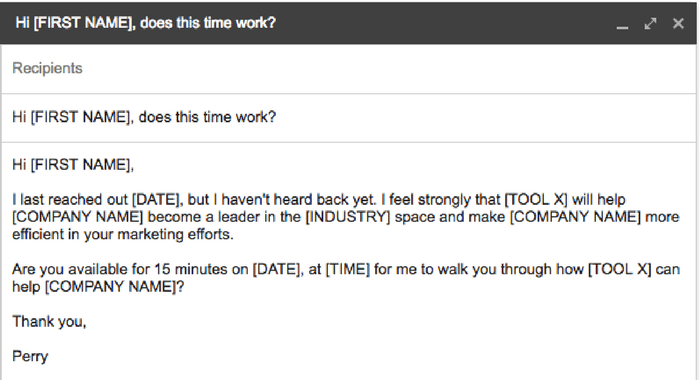 Sample email to schedule a meeting
