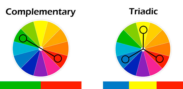 Complementary and Triadic Colors