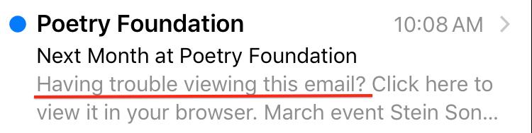 email preheader mistake