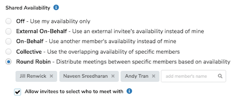 meeting scheduling shared availability