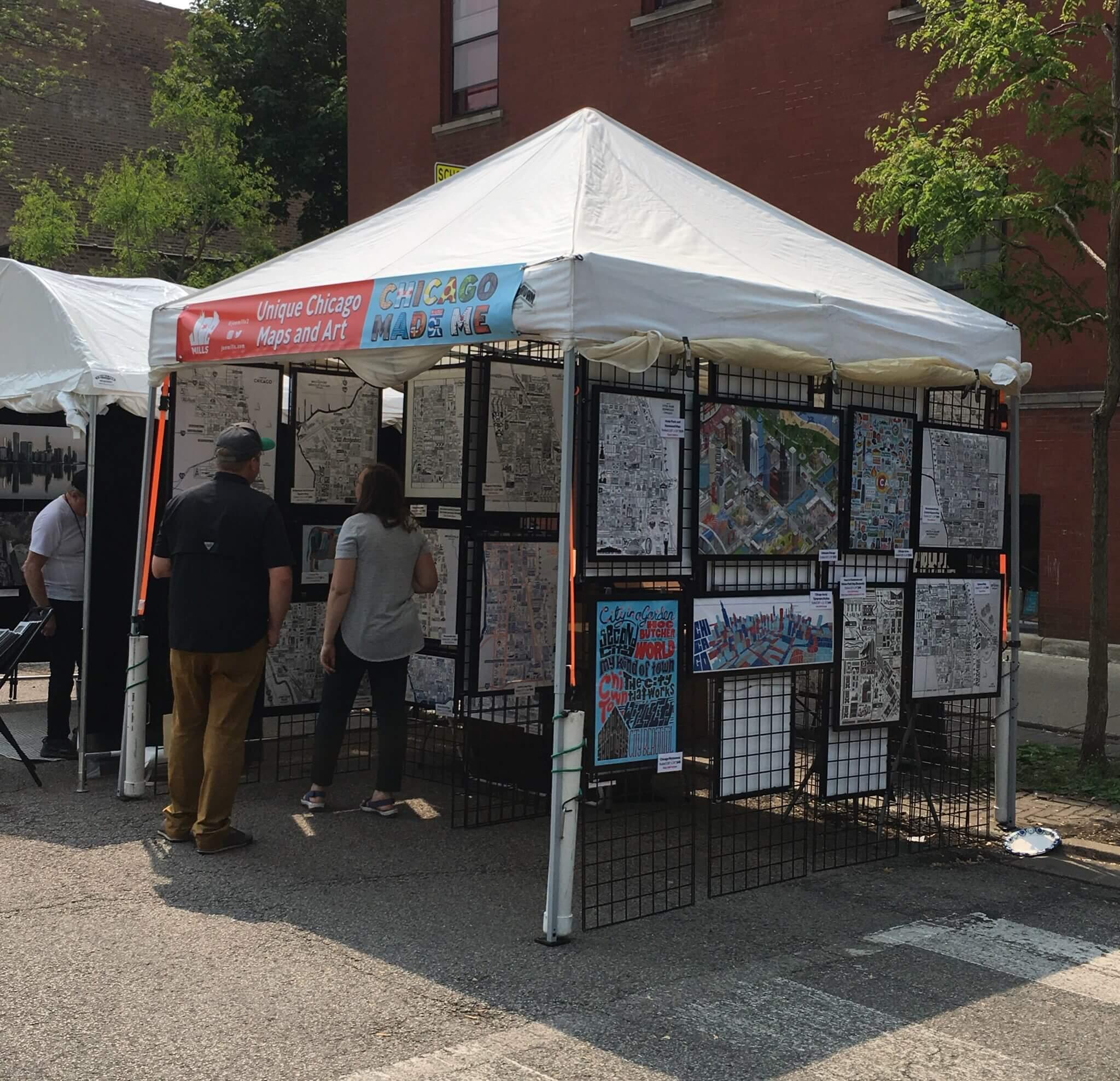 Joe's booth at a Chicago street fair