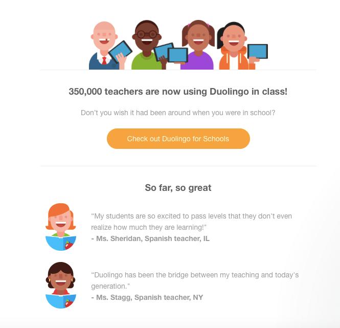 duolingo email example