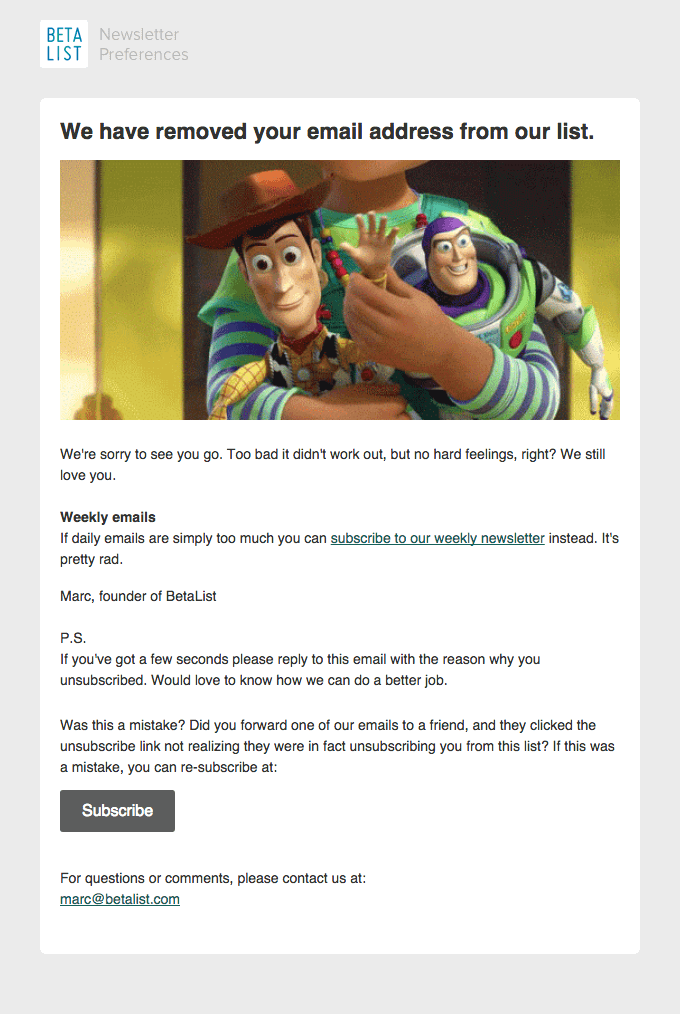 win-back email