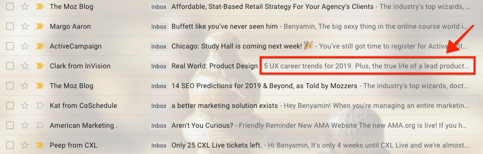email preheader examples