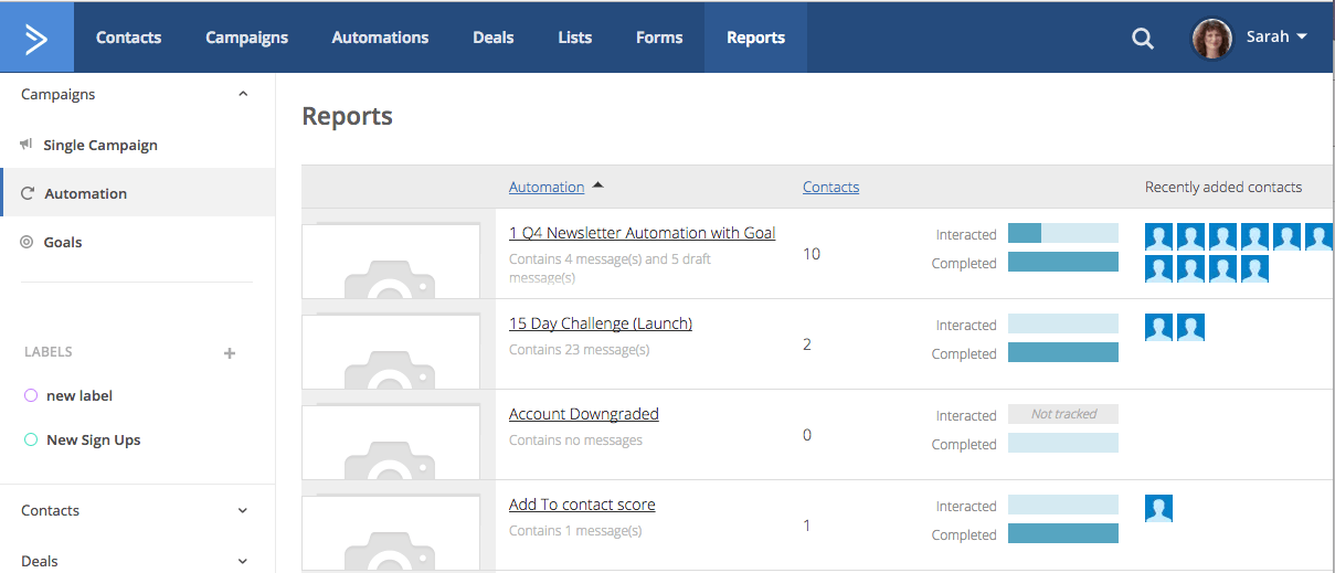Automation reports