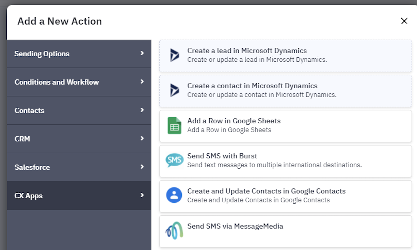 SMS workflow