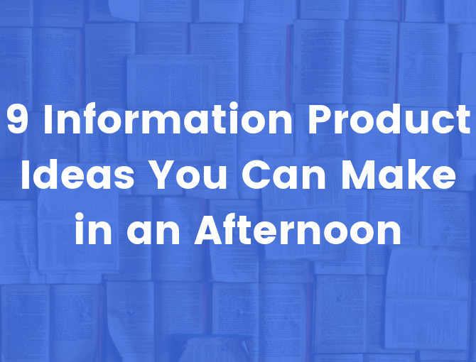 information product ideas