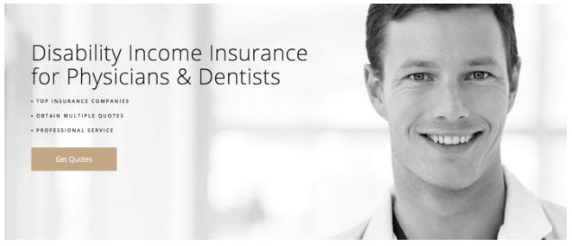 Codeless Dynamin Insurance Landing Page