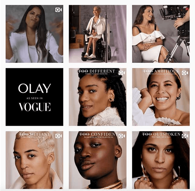 olay content marketing example