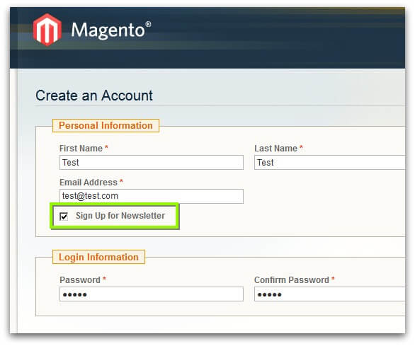Screenshot of ActiveCampaign Magento plugin/integration