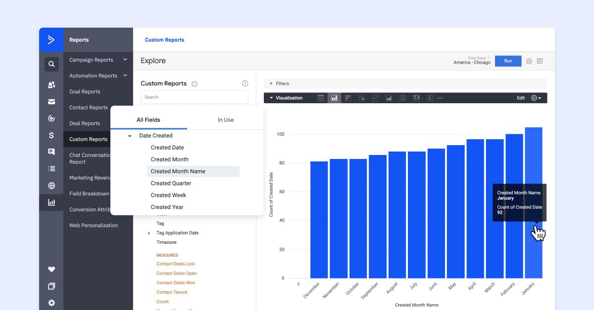 ActiveCampaign custom reports