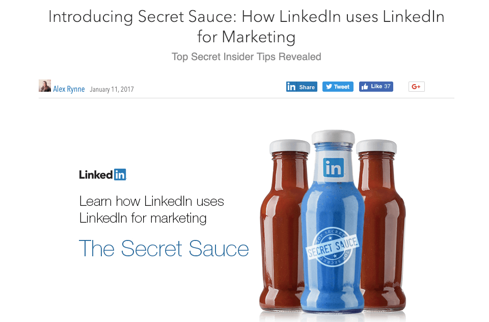 linkedin ebook content example