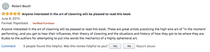 Clown Amazon Review