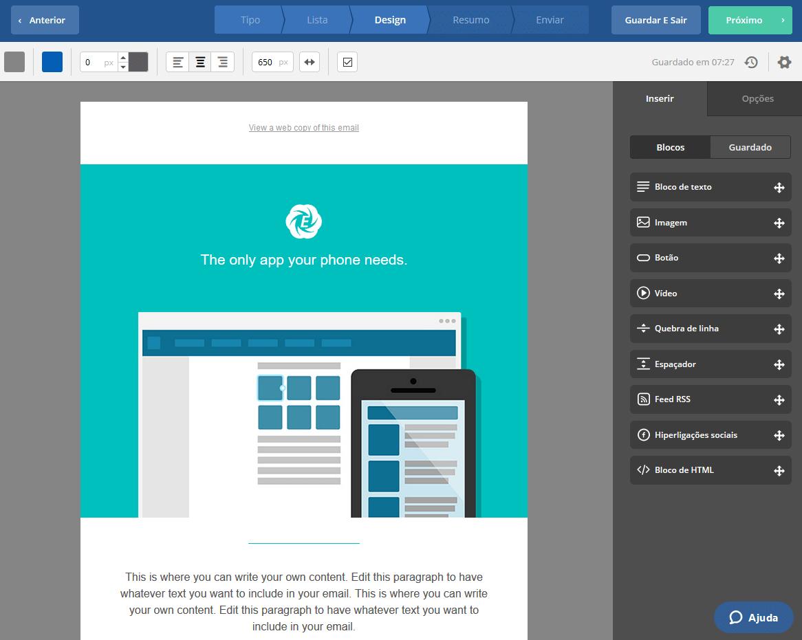 disparo de email marketing plataforma 6