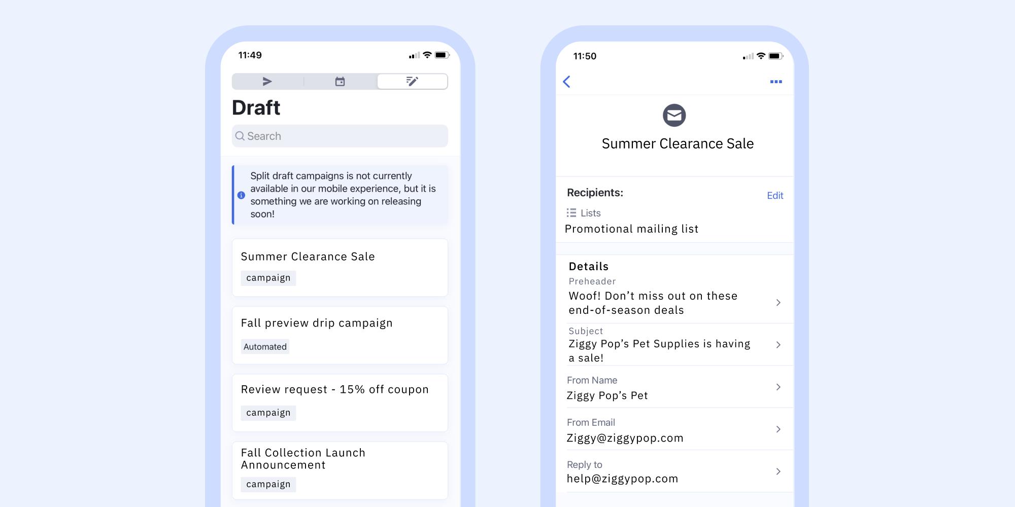 ActiveCampaign mobile app
