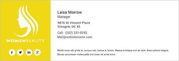 assinatura de email logotipo