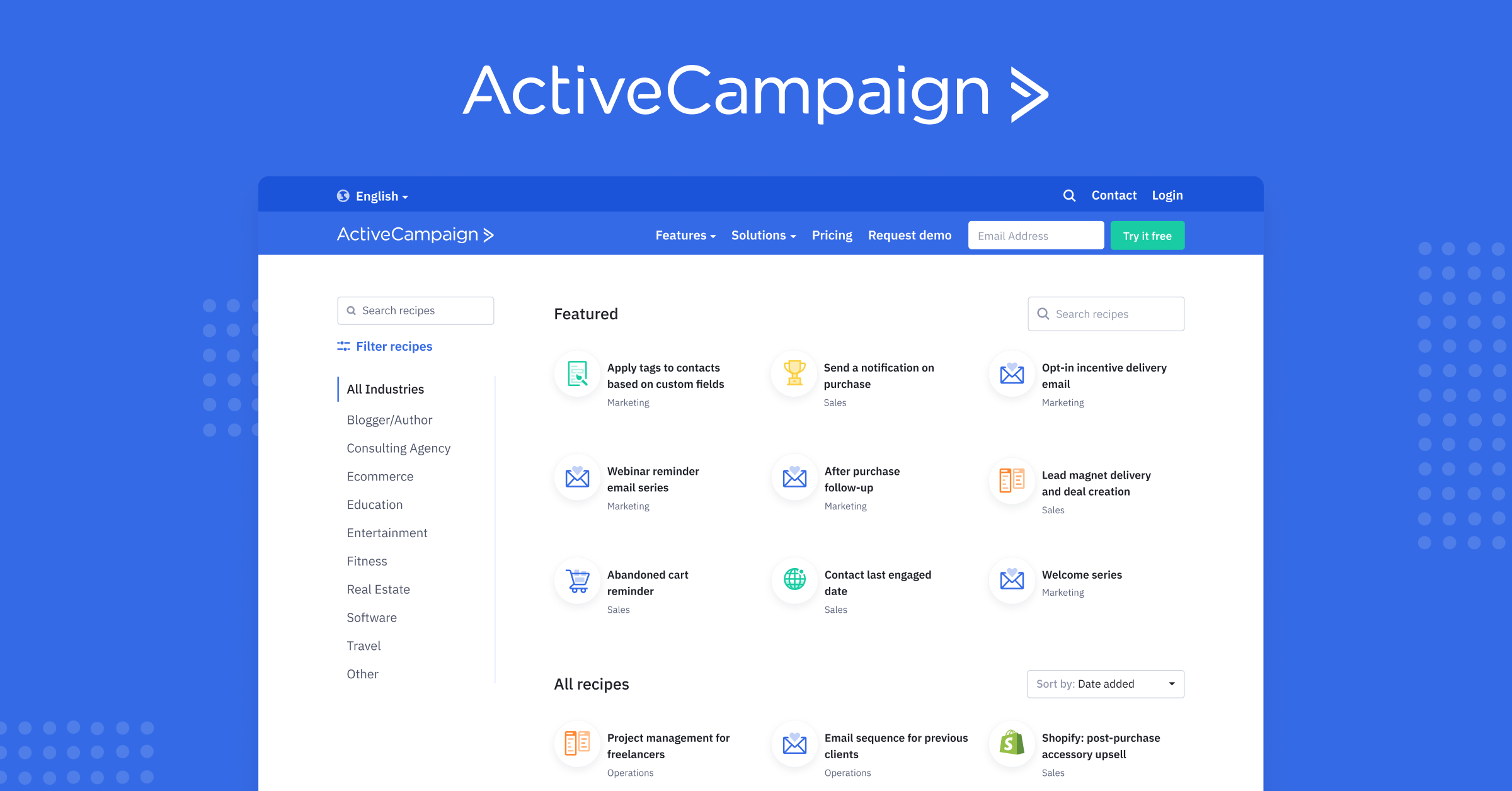 Introducing the ActiveCampaign Marketplace: Find a Recipe, Automate Anything