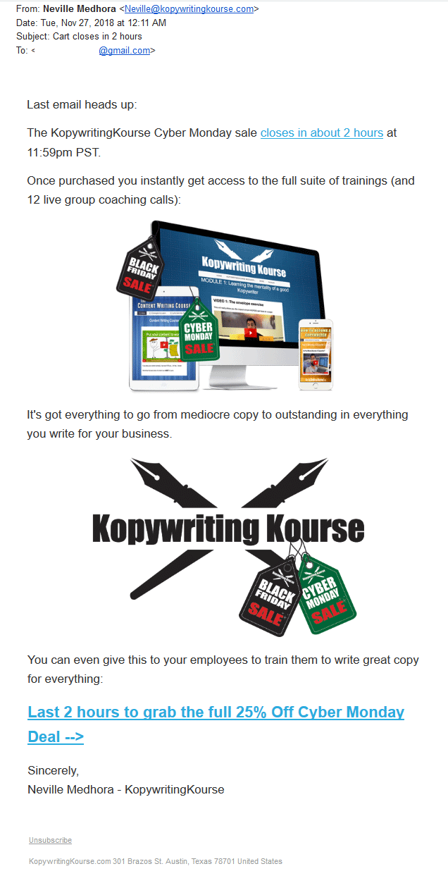 exemplos de email marketing 4