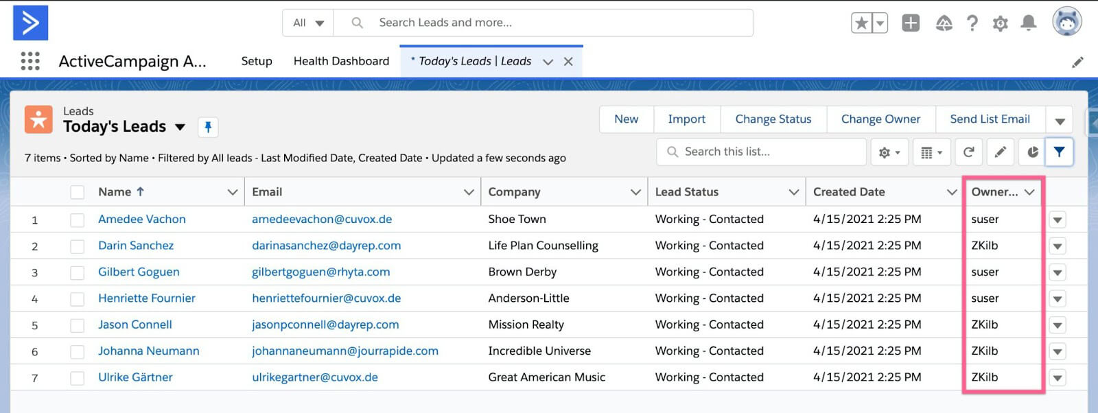 ActiveCampaign for Salesforce
