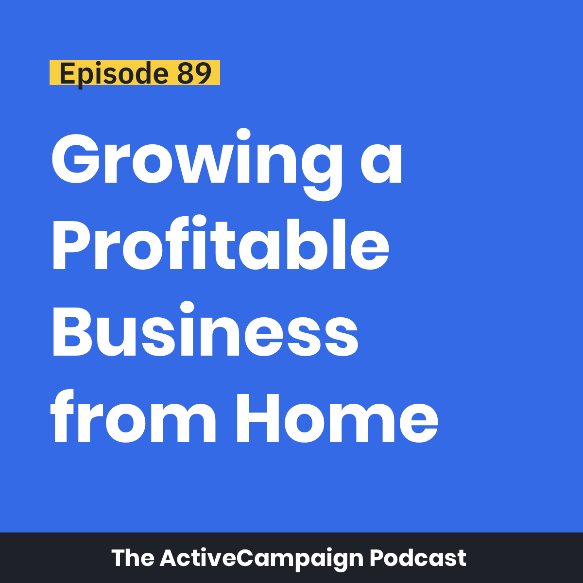 Episode 89: Growing a Profitable Business from Home