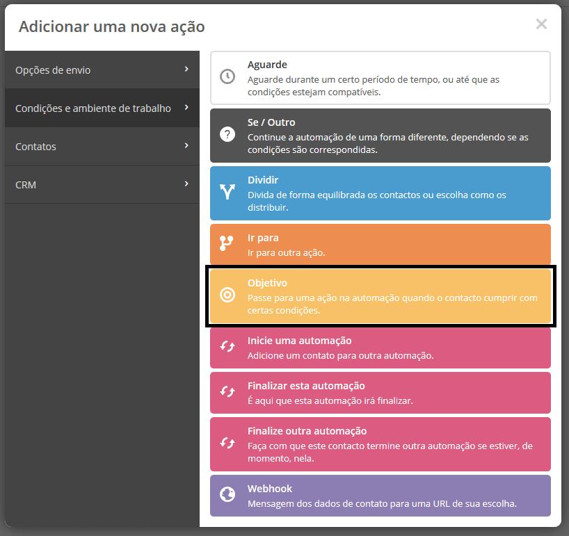 proximo passo de configuração da ferramenta de automação