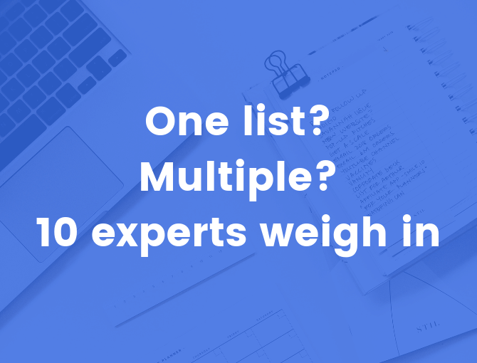 one list vs multiple lists