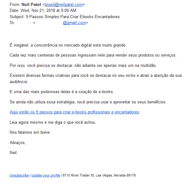 exemplos de email marketing 5