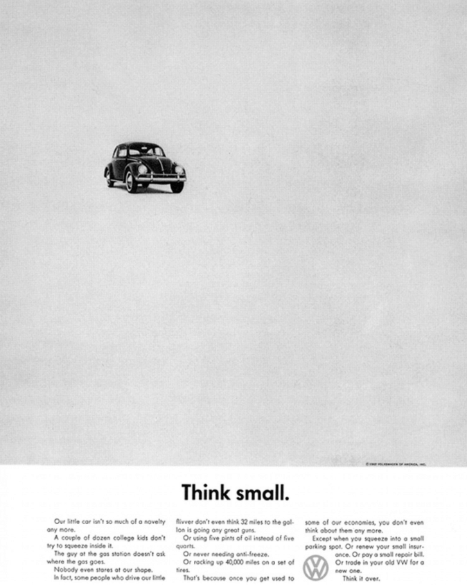 VW Think Small ad