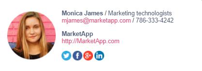 assinatura de email foto de perfil