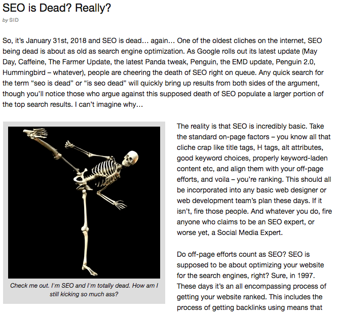 SEO skeleton ninja