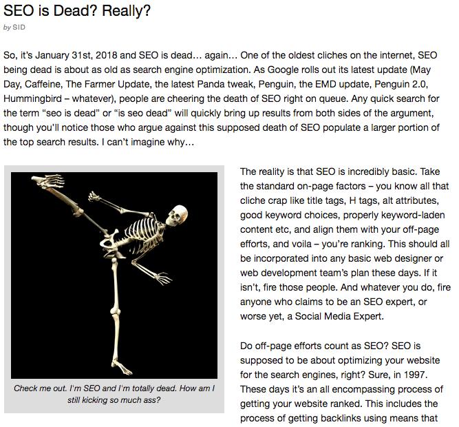 SEO skeleton ninja