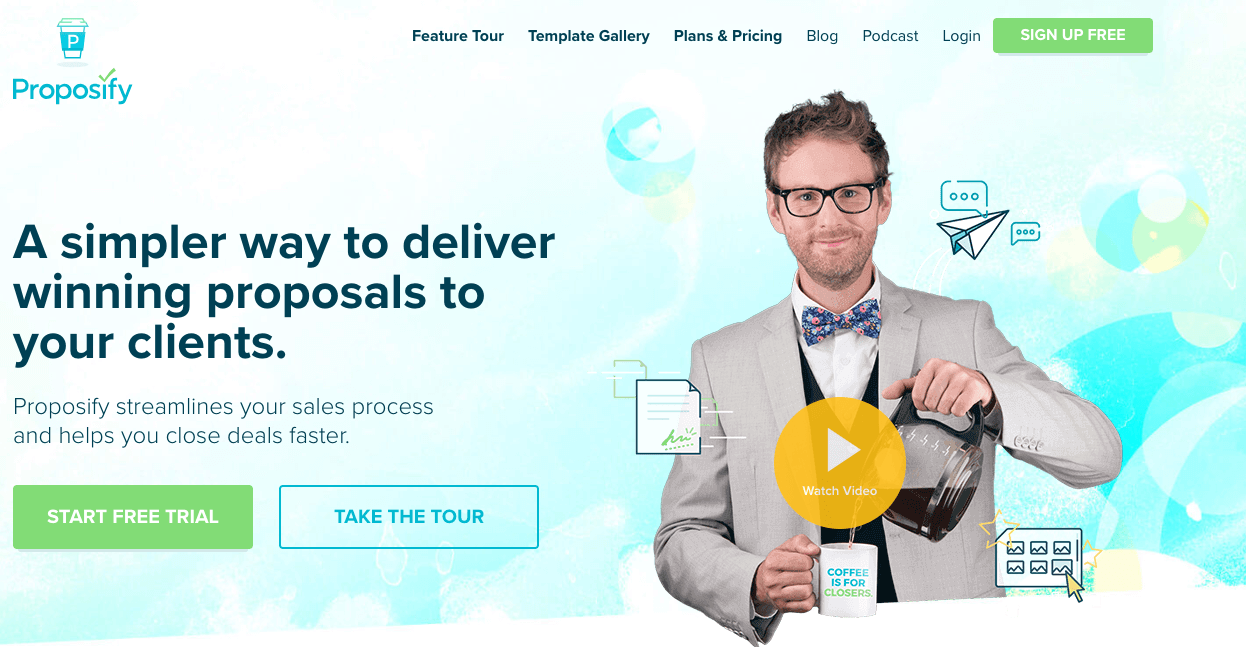 Proposify homepage