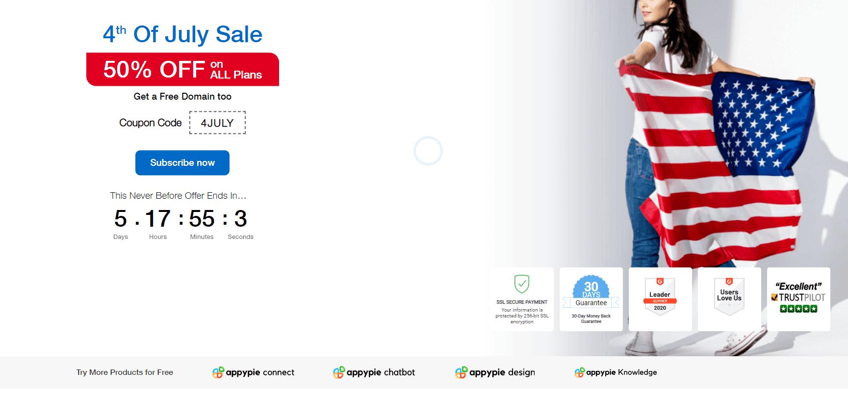 Appy Pie Campaign Landing Page