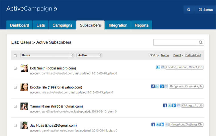 A New SubscriberContact List Page  Activecampaign Email Marketing Blog