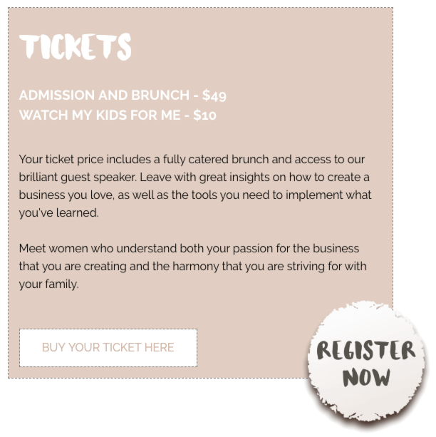 Mothers Den ticket page
