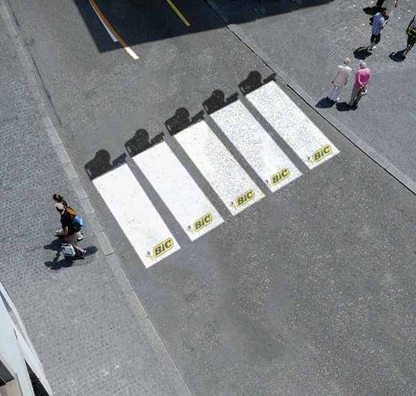 Guerrilla marketing crosswalk