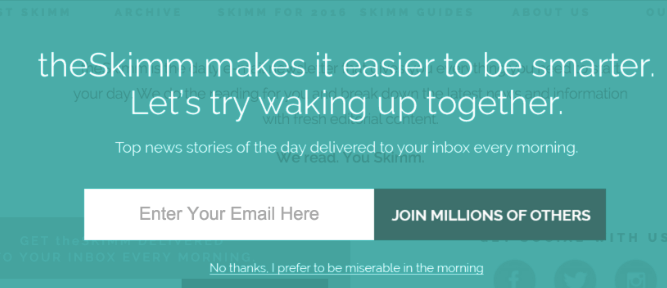 the skimm pop up example