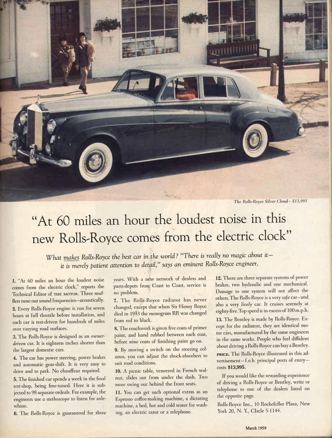 Rolls-Royce Headline Print Ad