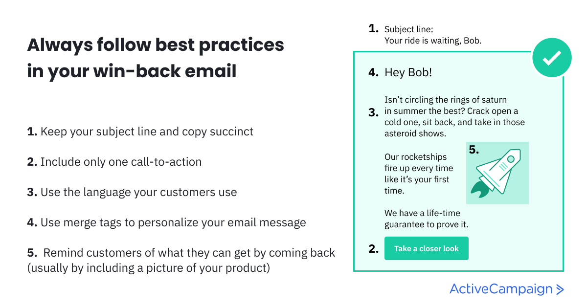best win-back email practices