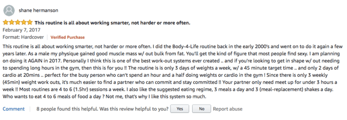 Body for Life Amazon Review
