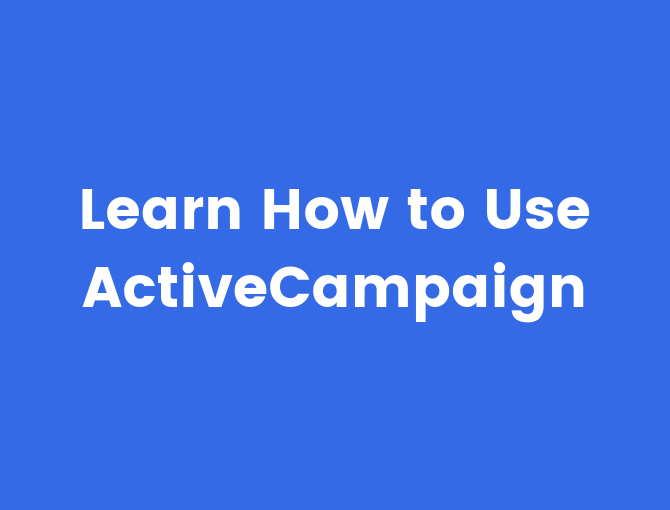 ActiveCampaign Training in how to use ActiveCampaign