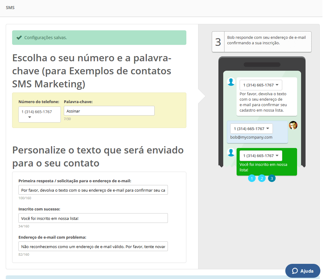 Resposta automátiva via SMS Marketing
